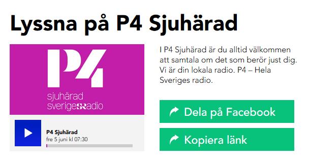 SR-radiospelare från Sveriges Radio