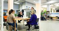 Foto från möte i projektet Conditional Design 2020.