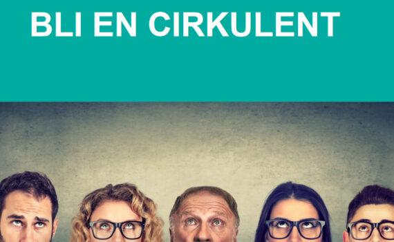 Fem ansikten som tittar upp på texten Bli en cirkulent
